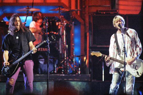Nirvana rehearsing for the 1992 MTV Video Music Awards