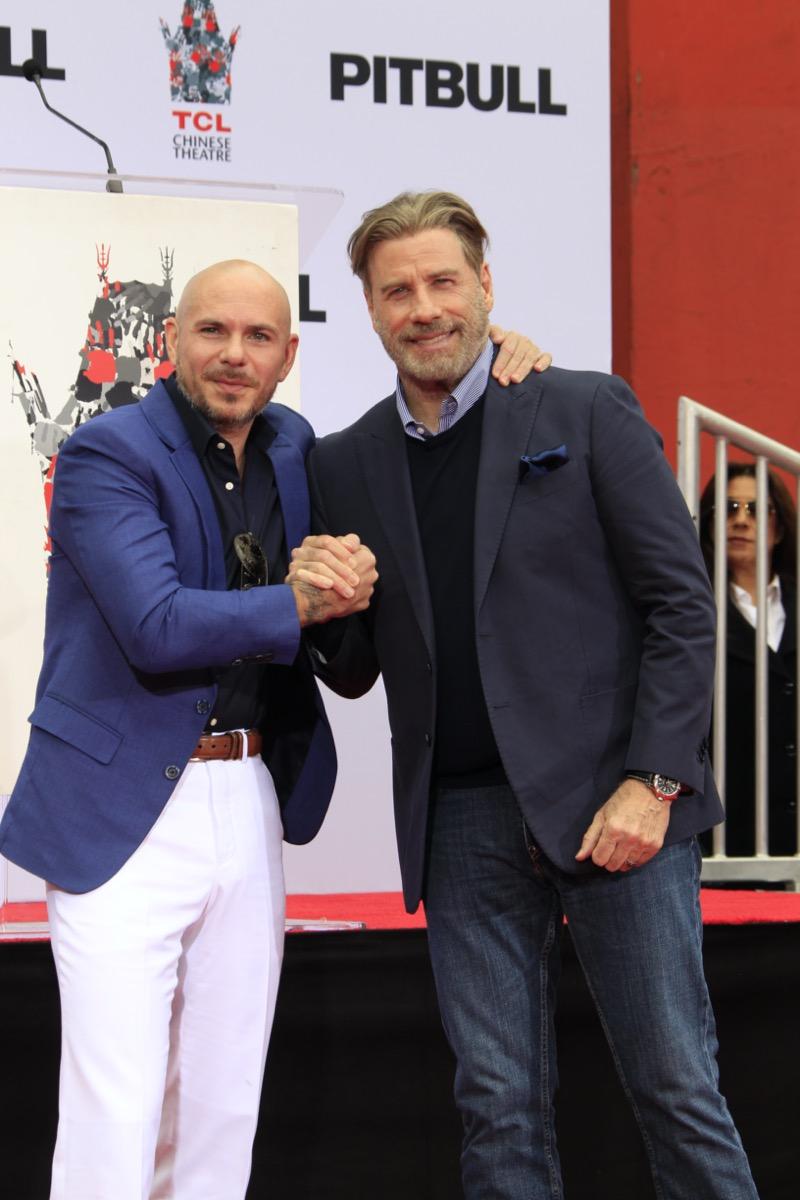 Pitbull and John Travolta