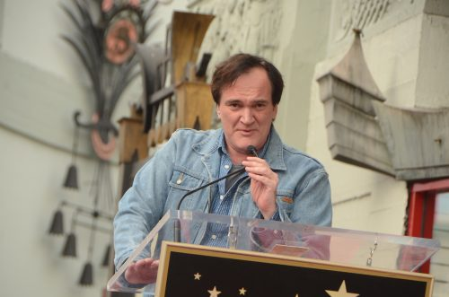 Quentin Tarantino at his Hollywood Walk of Fame ceremony in 2015