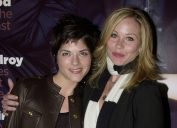 """Selma Blair and Christina Applegate at a """"GQ"""" party in 2002"""