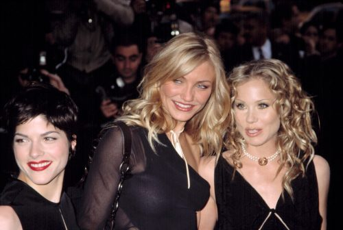 """Selma Blair, Cameron Diax, and Christina Aguilera at the premiere of """"The Sweetest Thing"""" in 2002"""