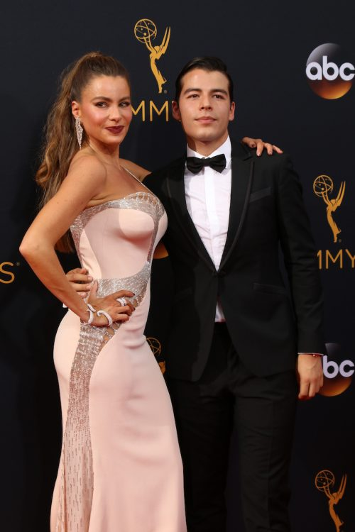 Sofía Vergara and Manolo Gonzalez Vergara at the 2016 Emmy Awards