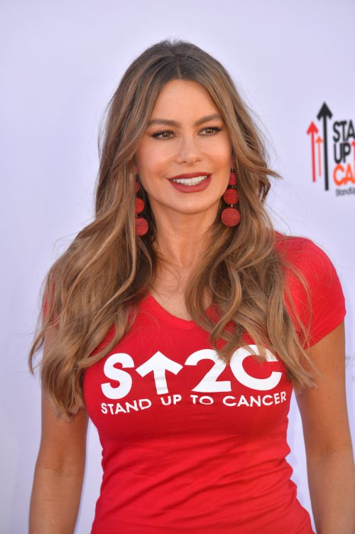 Sofía Vergara at a Stand Up To Cancer fundraiser in 2018
