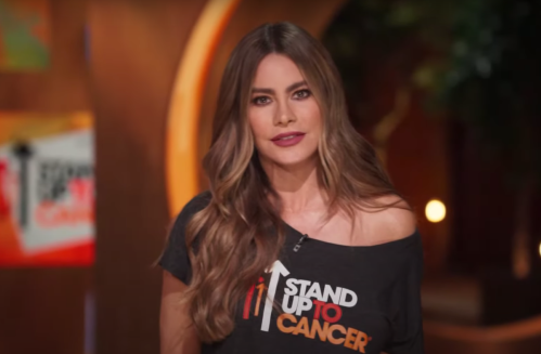 Sofía Vergara on the Stand Up To Cancer telecast in August 2021