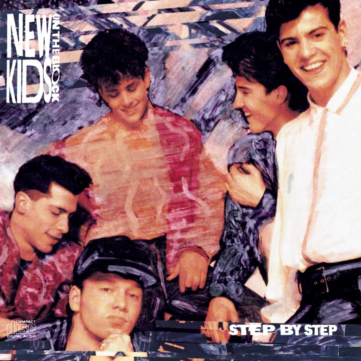 """New Kids on the Block """"Step by Step"""" single cover"""