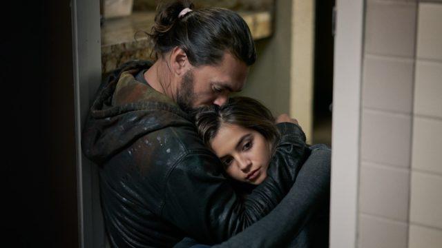 Jason Momoa and Isabela Merced in Sweet Girl
