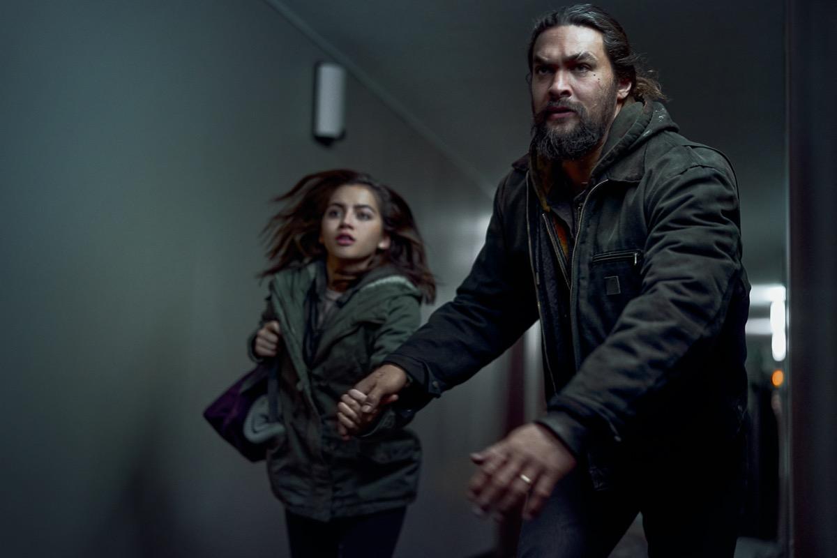 Isabel Merced and Jason Momoa in Sweet Girl