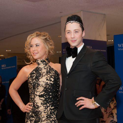 Tara Lipinski and Johnny Weir at the 2015 White House Correspondents' Association Dinner