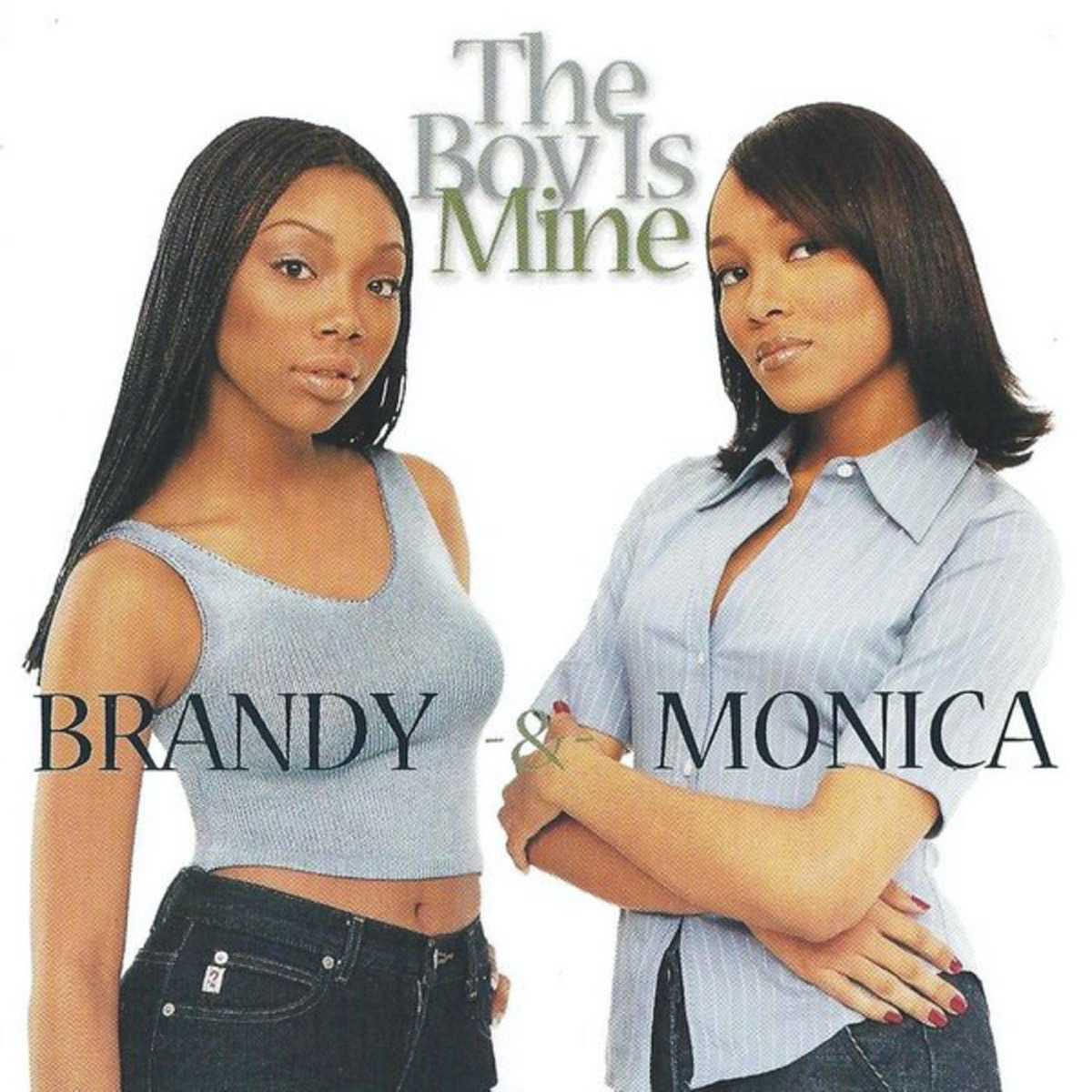 """Brandy and Monica """"The Boy Is Mine"""" single cover"""