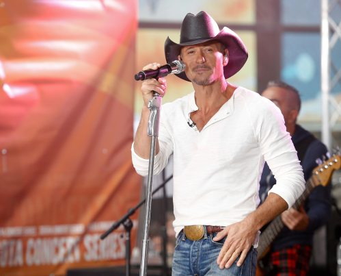 """Tim McGraw performing on """"Today"""" in 2014"""