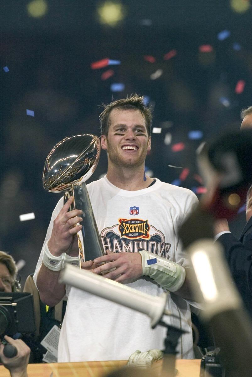 Tom Brady after Super Bowl win