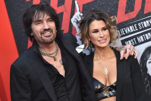Tommy Lee and Brittany Furlan at the premiere of