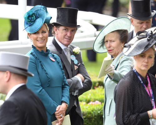 Zara Tindall, Tony McCoy, and Princess Anne at Royal Ascot in 2019