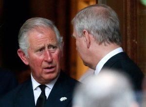 Prince Charles, Prince of Wales and Prince Andrew, Duke of York