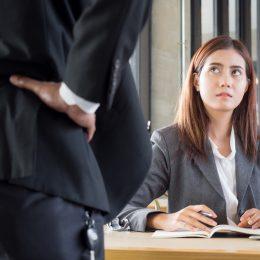 Boss talking down to employee