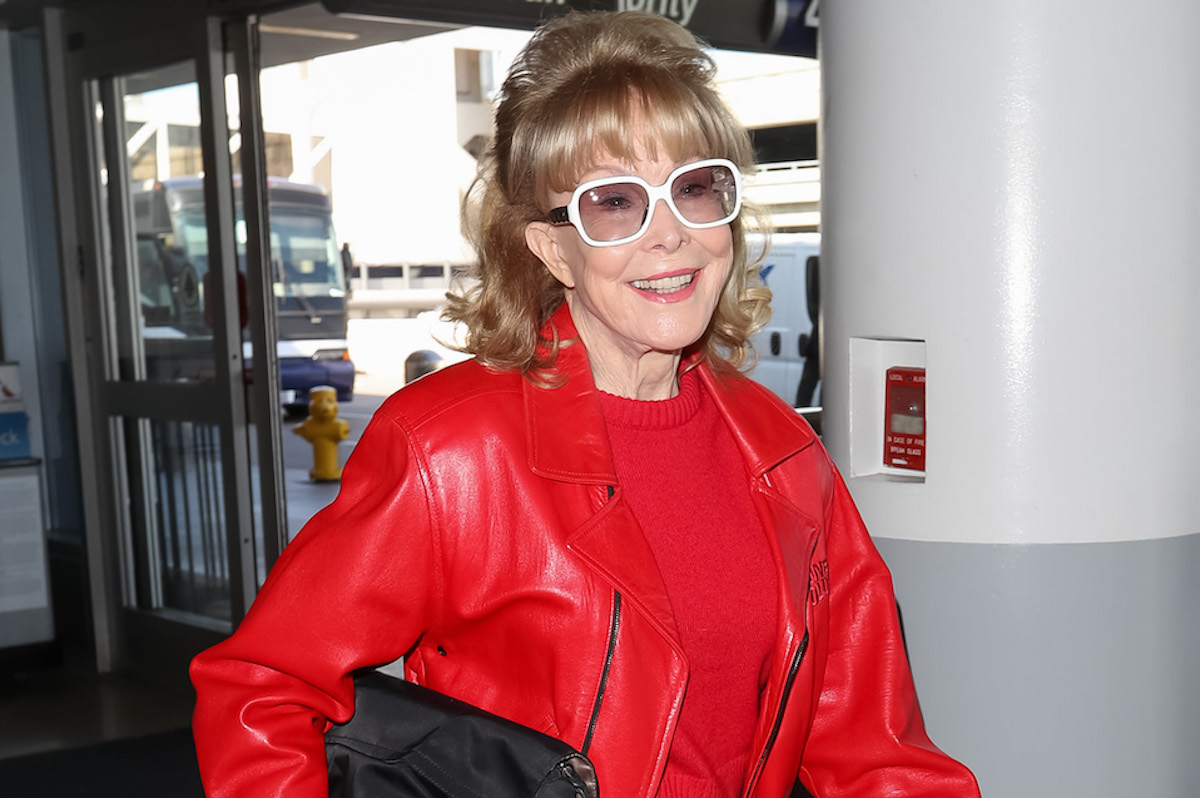 Barbara Eden is seen at LAX on February 12, 2020 in Los Angeles, California.