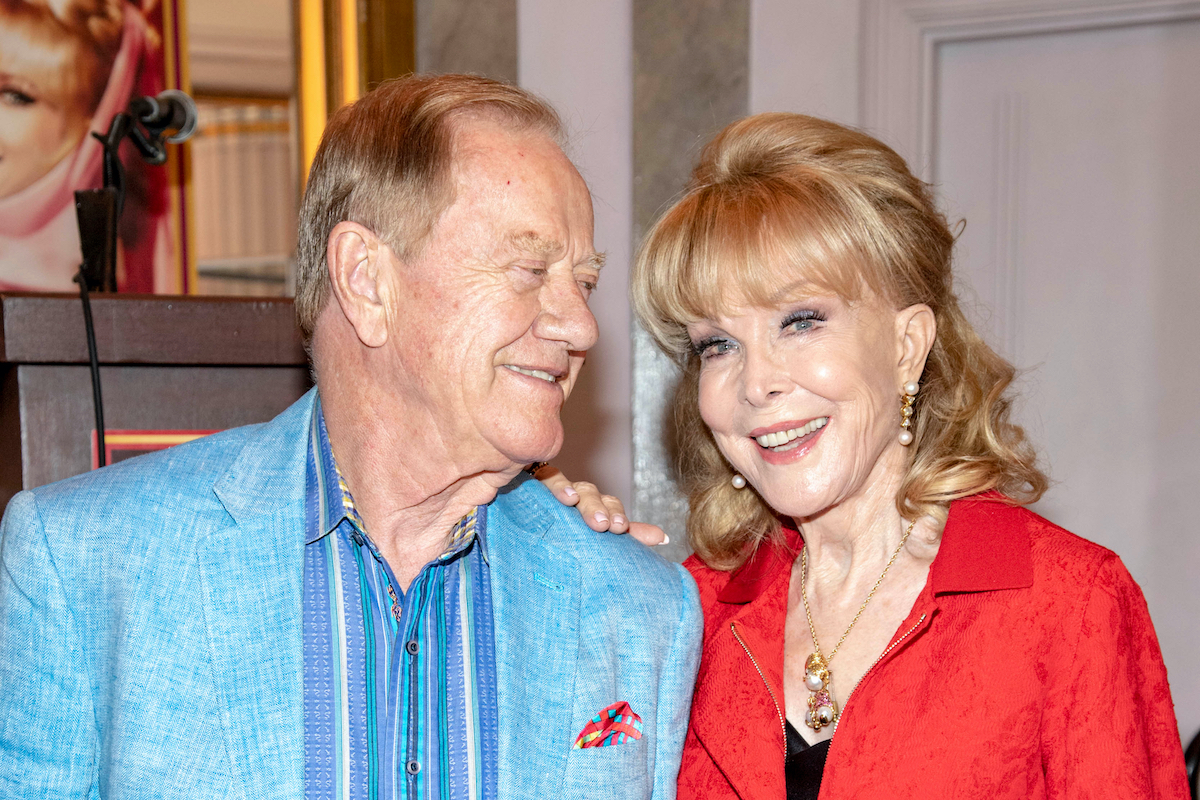 """Jon Eicholtz, Barbara Eden attends Barbara Eden and """"I Dream of Jeannie"""" Honored At The Hollywood Museum, Hollywood, CA on August 21 2019"""