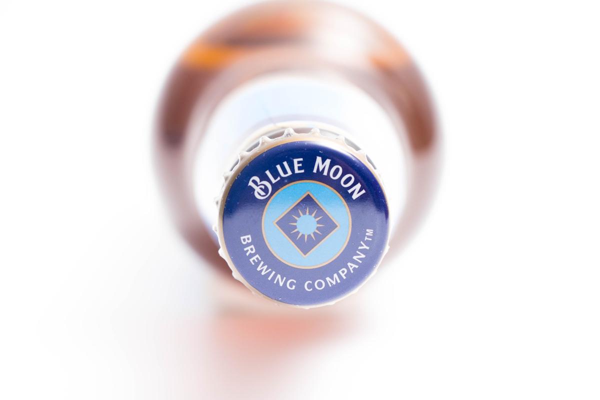 Blue Moon white beer bottle Belgian