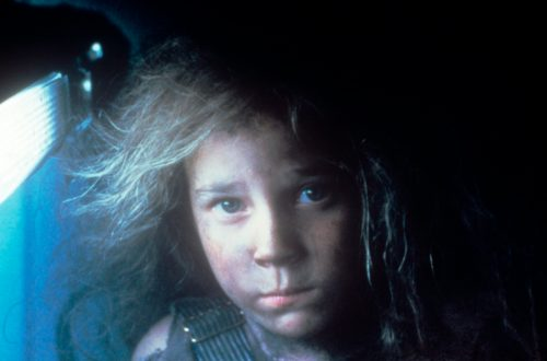 "Carrie Henn acting in the 1986 film ""Aliens"""