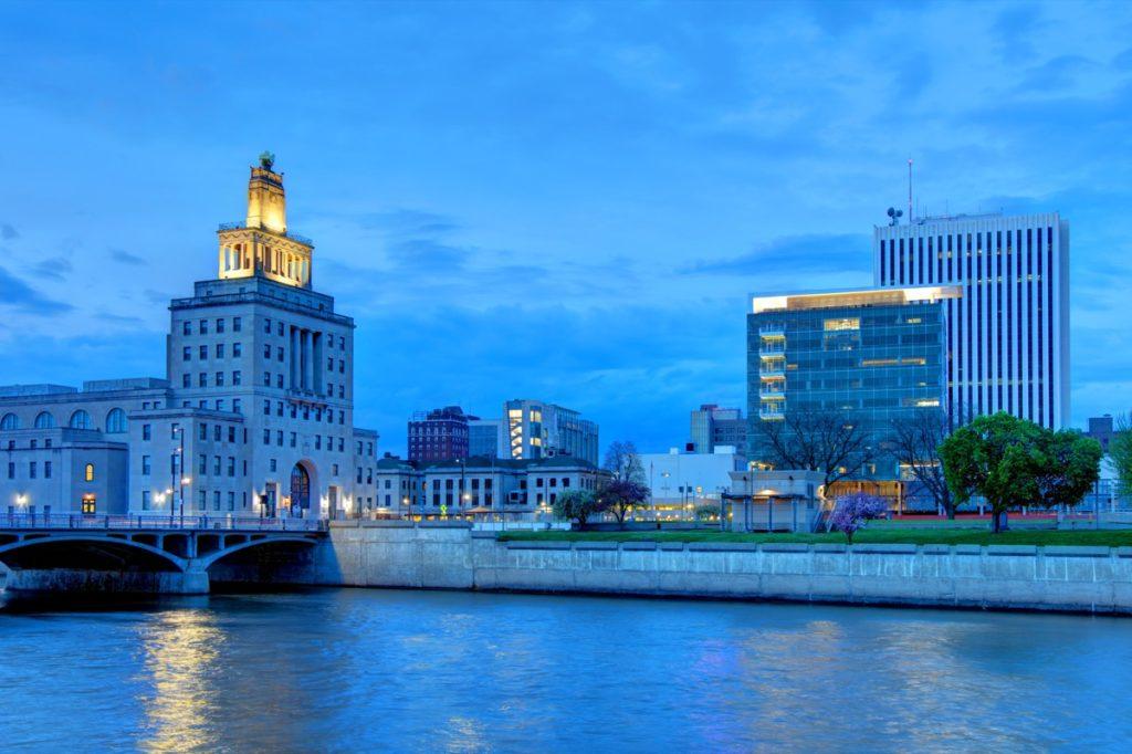 cityscape photo of Cedar Rapids, Iowa, near the suburb of Robins