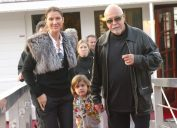 Canadian pop star Celine Dion, her husband Rene Angelil and their child Rene Charles seen enjoying week end in Paris in 2005