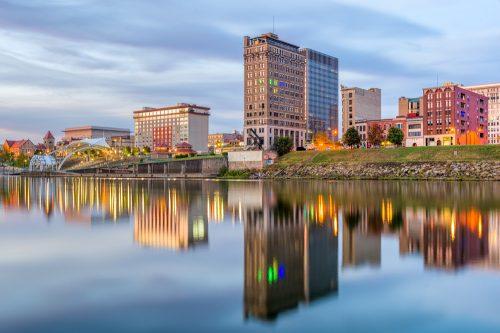 The skyline of Charleston, West Virginia