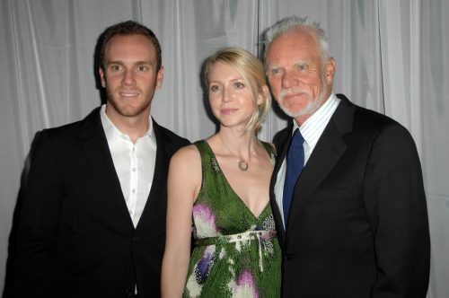 Charlie, Lily, and Macolm McDowell