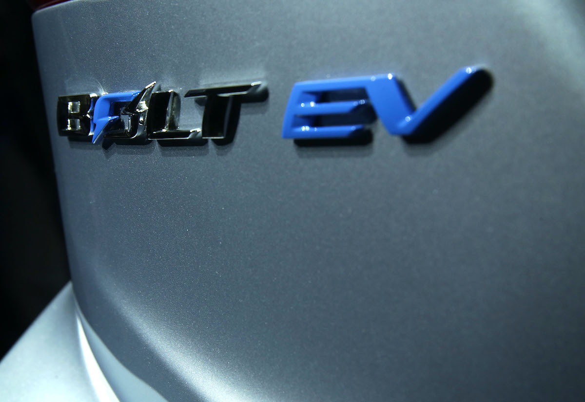 Its name is seen on body of the new Chevy Bolt EV, an electric car