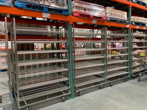 Princeton, New Jersey / USA - 15/03/2020: Empty shelves with no food as people empty supplies in panic of coronavirus
