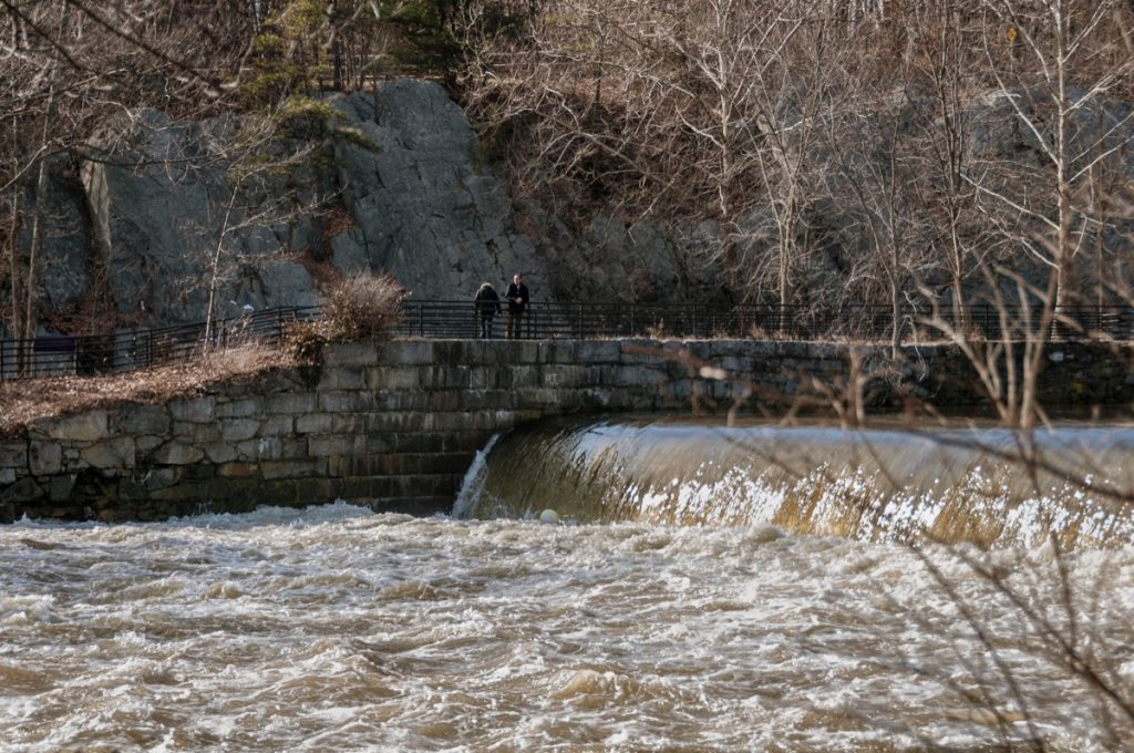 a river in Cumberland, which is near Cumberland Hill, Rhode Island