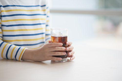 boy drinking soft drink cola soda