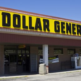 exterior of a dollar general store