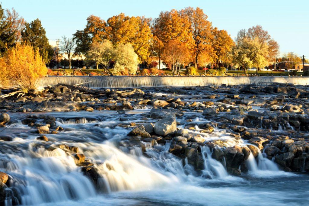 landscape photo of the Idaho Falls, in Idaho