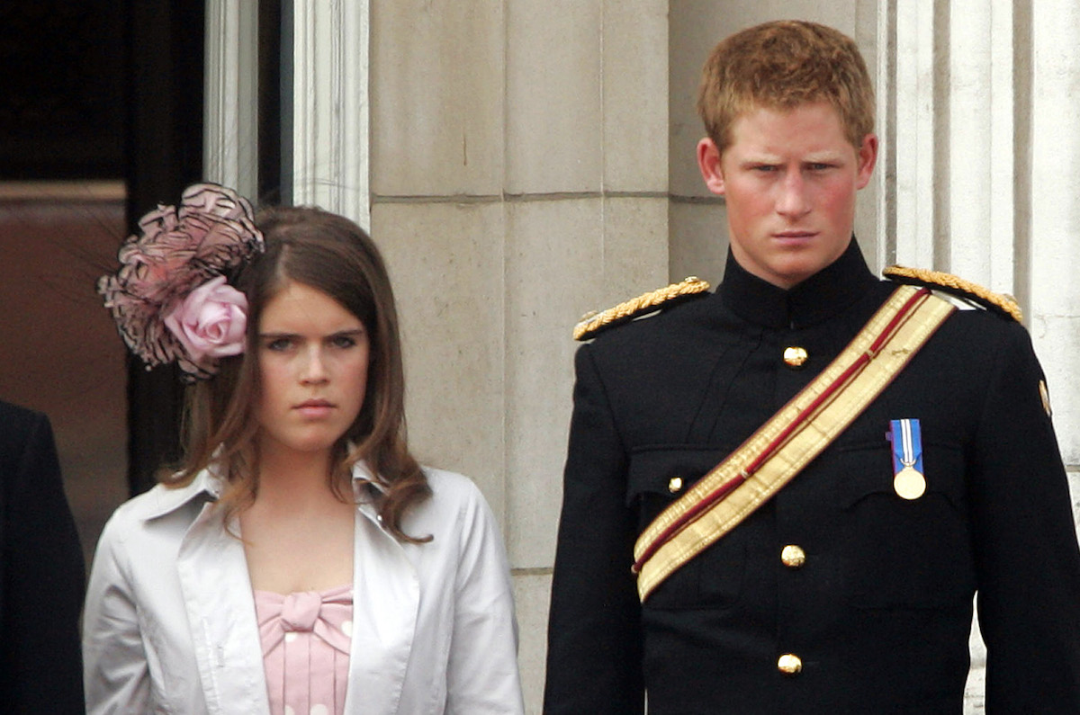 Prince Harry, and Princess Eugenie Attend The 2006 Trooping Of The Colour Ceremony In London.