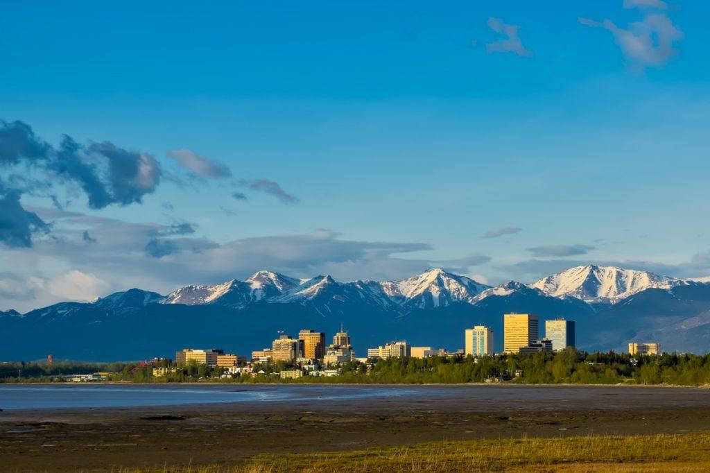 cityscape photo of Alaska at sunset