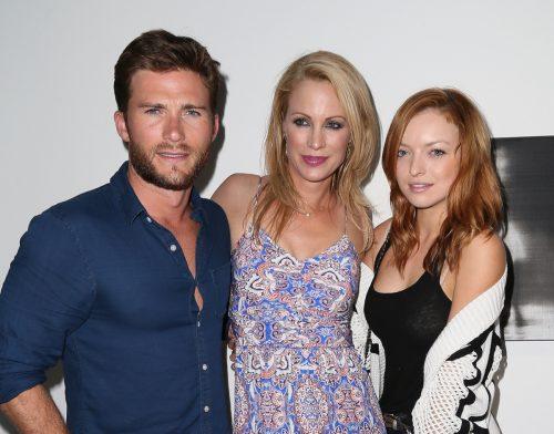 Scott Eastwood, Alison Eastwood and Francesca Eastwood in 2015