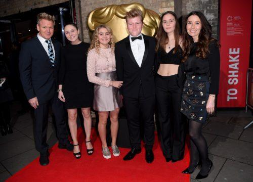 Gordon Ramsay, Holly Anna Ramsay, Matilda Ramsay, Jack Scott Ramsay, Megan Jane Ramsay and Tana Ramsay in 2016