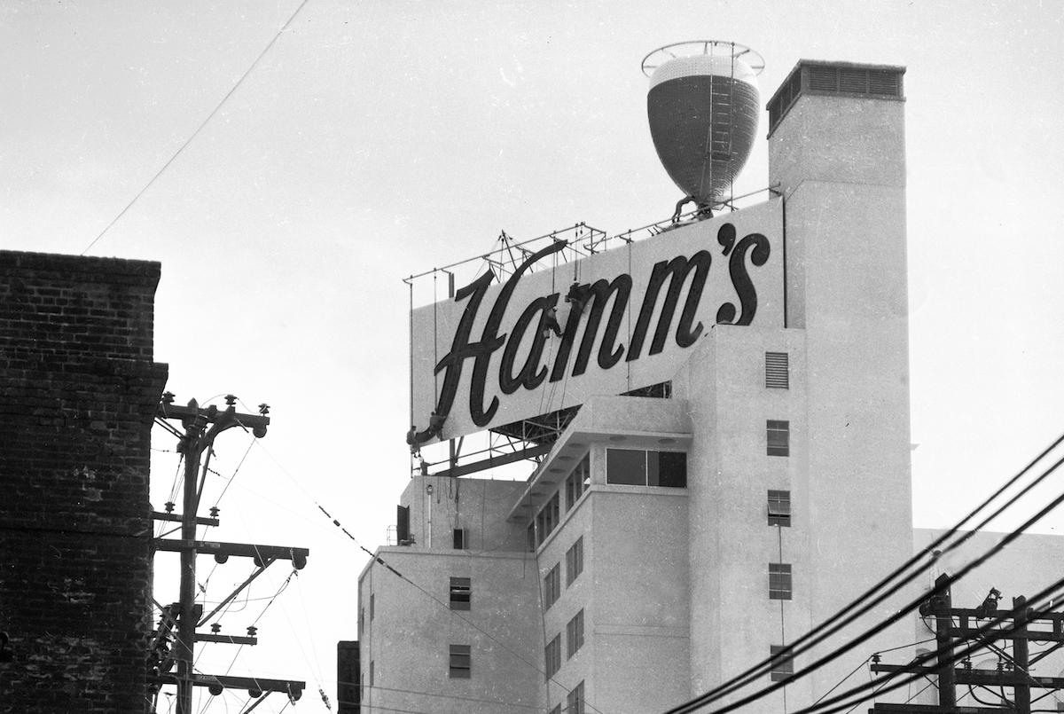 Hamm's Brewery sign at 1550 Bryant