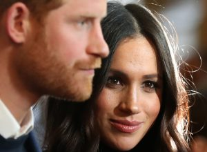 Britain's Prince Harry and Meghan Markle before they got married in 2018
