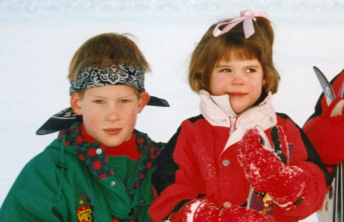 Eugenie and Harry in Klosters, Switzerland on January 04, 1995.