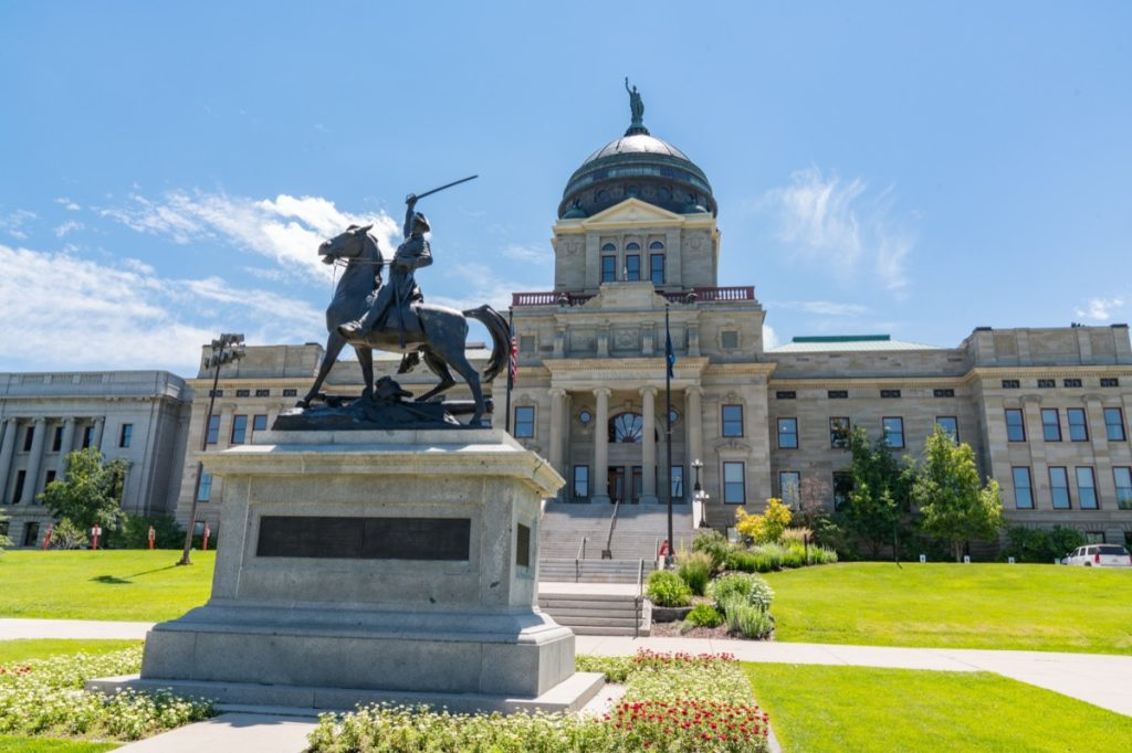 Thomas Francis Meagher Statue at the Montana State Capital Building in Helena, Montana