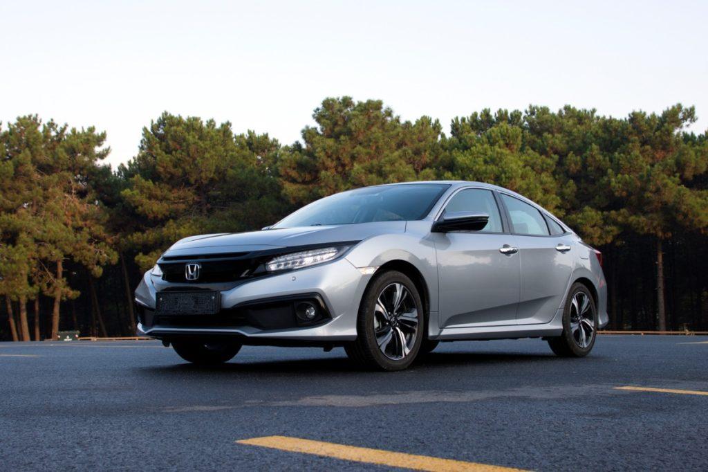 a grey 2020 Honda Civic
