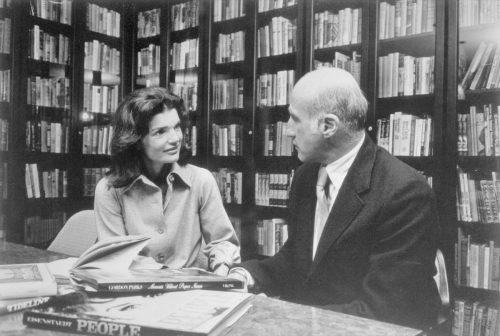 Jacqueline Kennedy Onassis Sitting With Tom Guinzburg of Viking Press