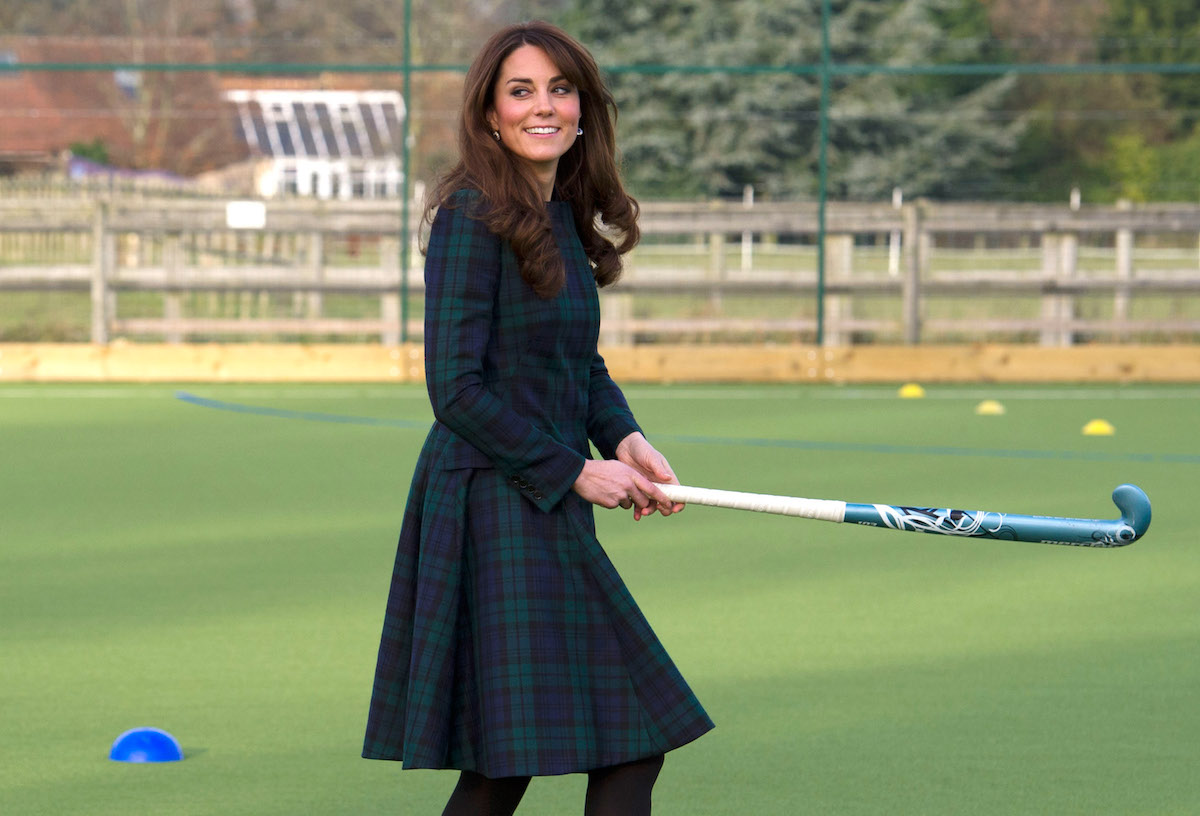 The Duchess of Cambridge plays field hockey at St. Andrews