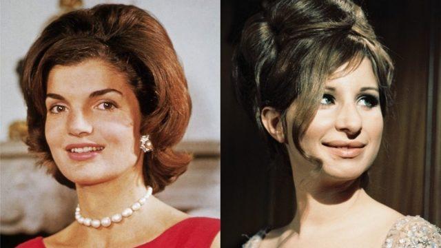 Jackie Kennedy and Barbra Streisand