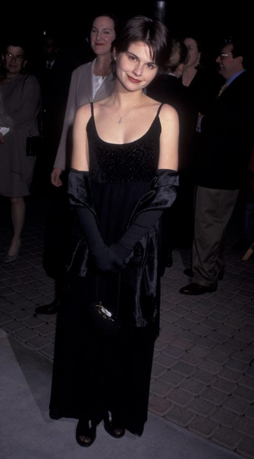 """Lisa Jakub at the 1997 premiere of """"The Beautician and the Beast"""""""