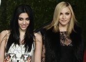 Lourdes Leon and Madonna at the 2011 Vanity Fair Oscar Party