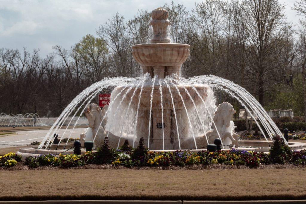 Fountain in front of a mall in Madison, Mississippi