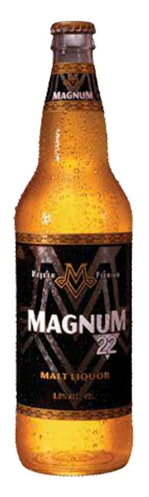 A bottle of Magnum beer