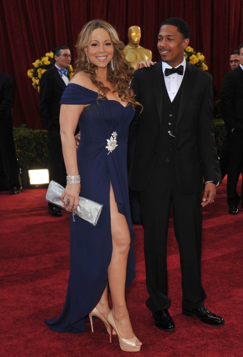 Mariah Carey and Nick Cannon at the 2010 Oscars